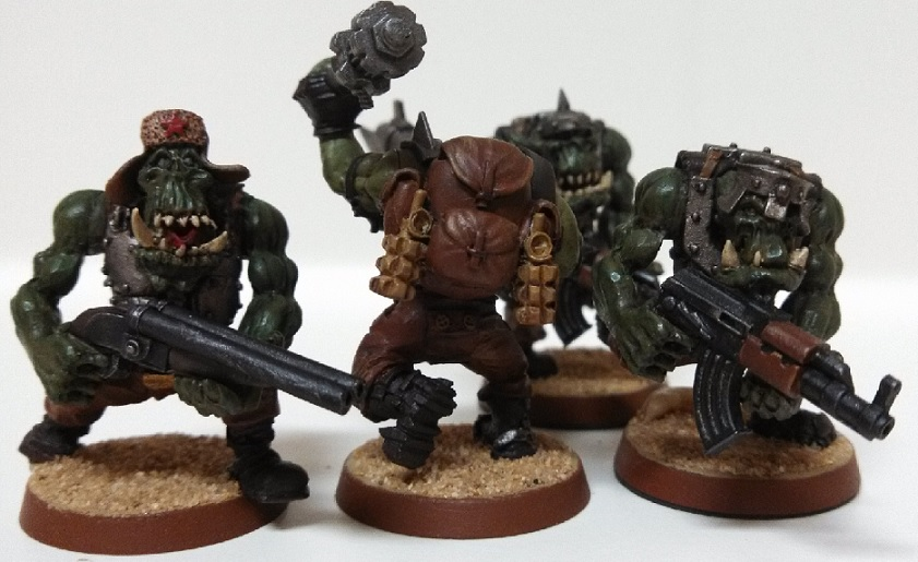 four recently painted orks 02