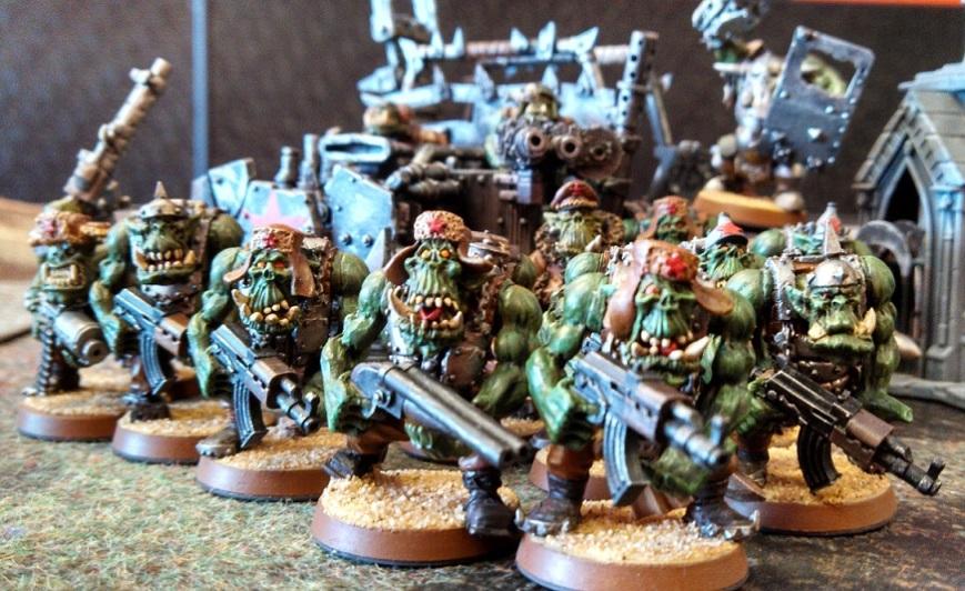 Ork Hard Boy Trukk Squad