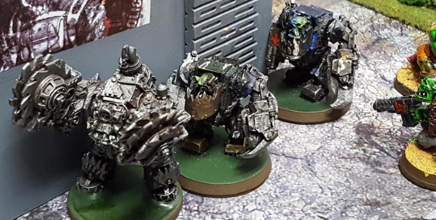 Orks vs. Orks Feb 17 2017 Cautious Meganobz