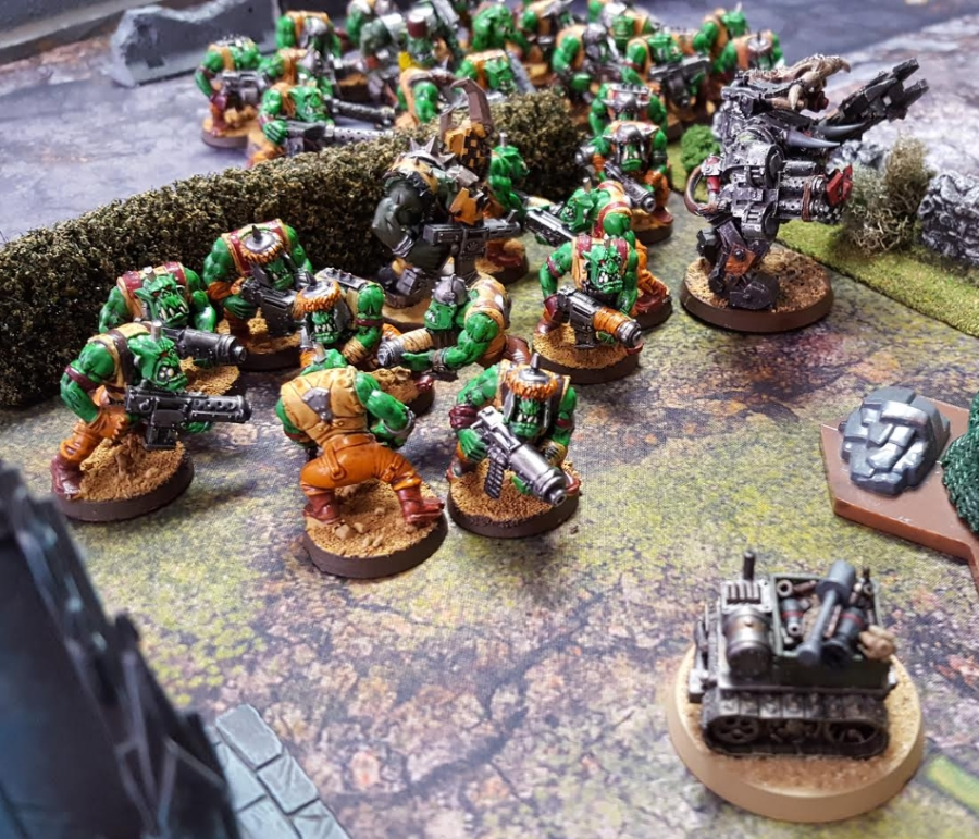 Orks vs. Orks Feb 17 2017 Warboss and Boyz