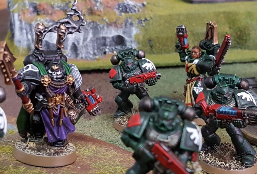 IG and friends vs Daemonkin March 31 2017 chaplain and tactical marines