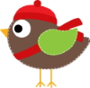 Christmas Bird Clip Art