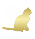 Gold Cat Clip Art