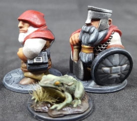 Dwarf with Musket and Graybeard with axe and fancy anvil shield April 3 2020