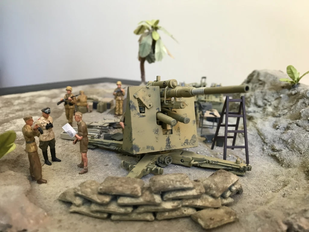 Candore Et Labore German flak gun diorama