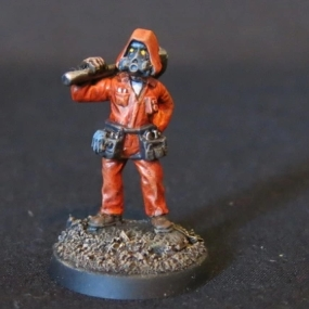 Convert or Die Necromunda civilian with hammer front