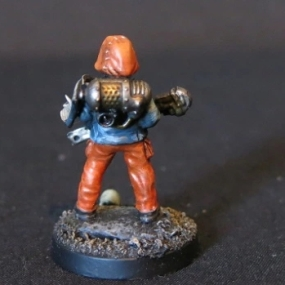Convert or Die Necromunda civilian with wrench back