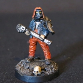Convert or Die Necromunda civilian with wrench front