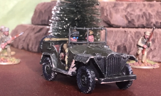 Faith and Steel GAZ Jeep with infantry