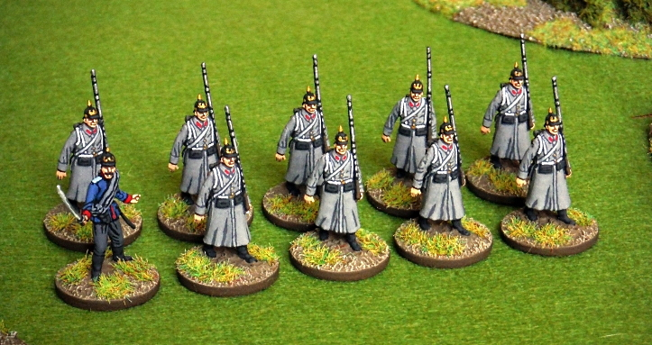 John at Just Needs Varnish Marching Prussian Infantry