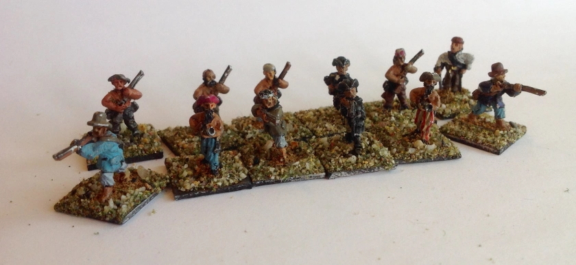 Man of Tin 15mm Pirates with muskets and blunderbusses