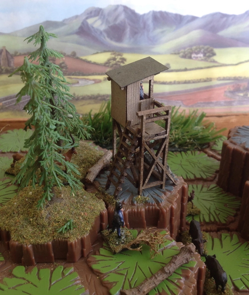 Man of Tin Border Watchtower hex diorama view from back