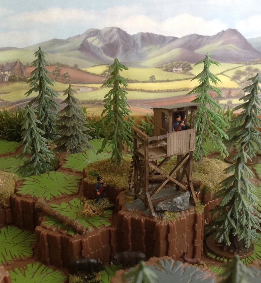 Man of Tin Border Watchtower hex diorama