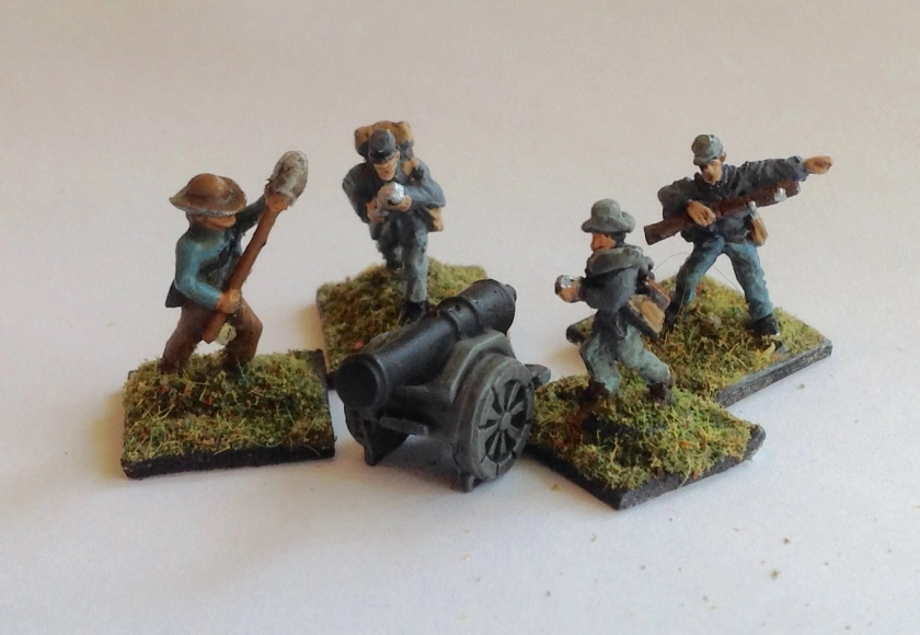 Man of Tin cannon and crew from the Napoleonic Risk game