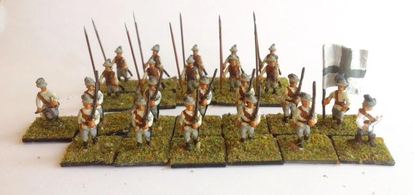 Man of Tin Peter Laing 15mm ECW unit with white and gray flag