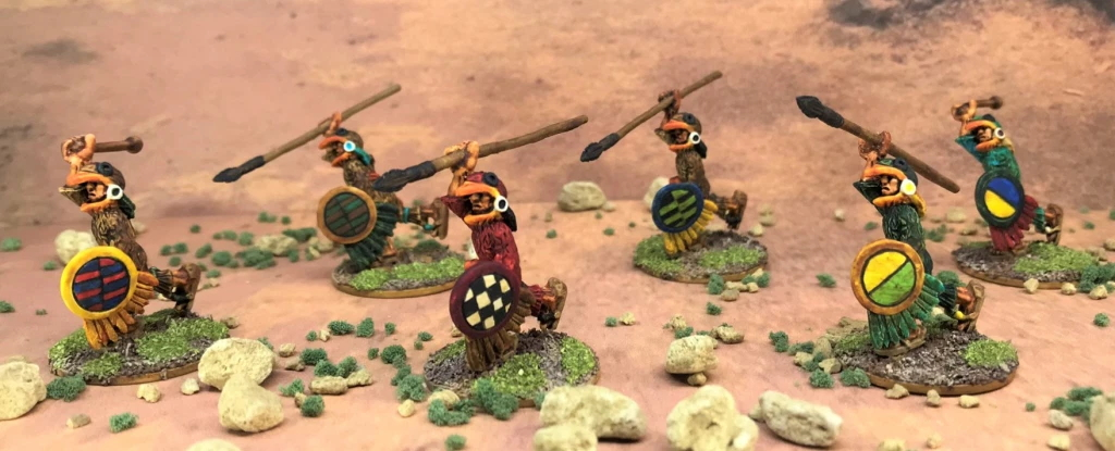 Mark Morin Eagle Warriors advancing close up