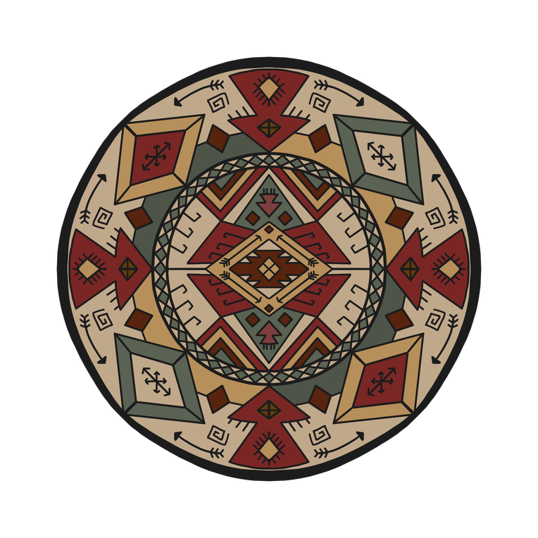 introverted hermit mandala 25 colorized