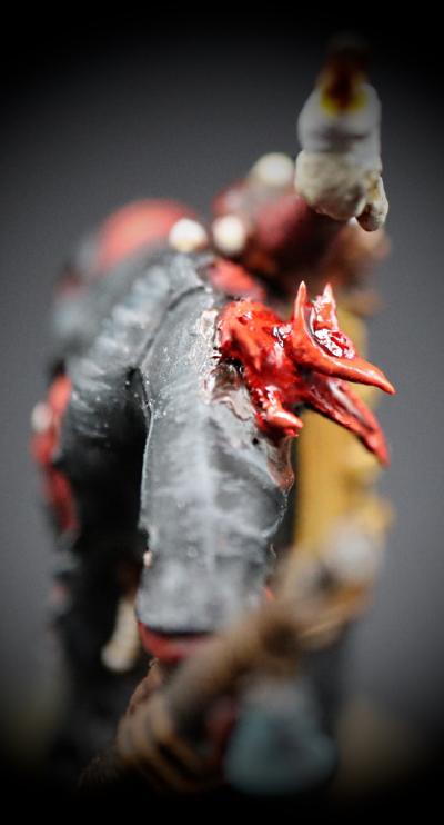Poxwalker #20 right side view with close up on Khorne Flower