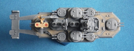 Japanese Flying Battleship Shinano class Just Needs Varnish aerial view