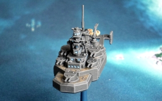 Japanese Flying Battleship Shinano class Just Needs Varnish bow view