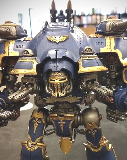 Tom Douglass Imperial Knight front closer view